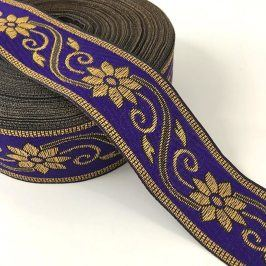 Jacquard Flower purple