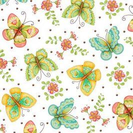ALL A FLUTTER Butterflies white
