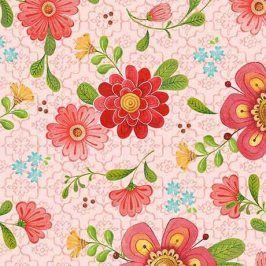 ALL A FLUTTER Floral pink