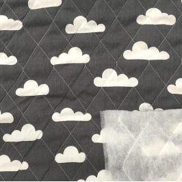 Prešívaná bavlna Cloud grey