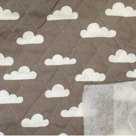 Prešívaná bavlna Cloud brown
