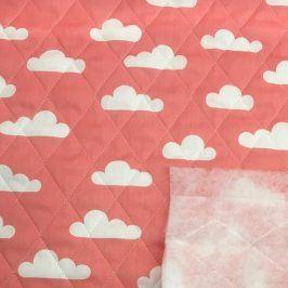 Prešívaná bavlna Cloud salmon
