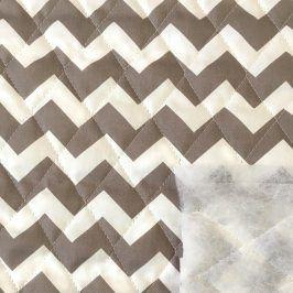 Prešívaná bavlna Chevron brown