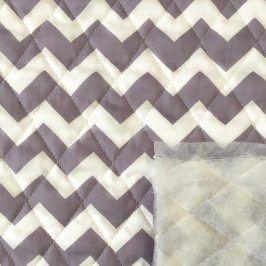 Prešívaná bavlna Chevron purple