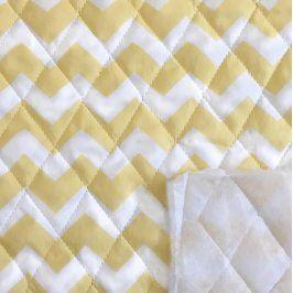 Prešívaná bavlna Chevron yellow