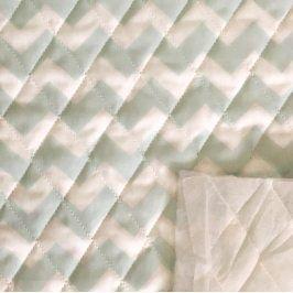 Prešívaná bavlna Chevron mint