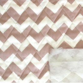 Prešívaná bavlna Chevron old pink
