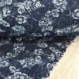 Jeans fleece Flowers