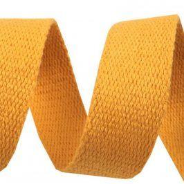 Popruh bavlna 3 cm horčicová