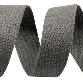 Popruh bavlna 3 cm sivá tmavá
