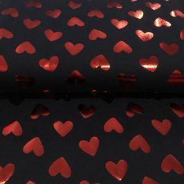 Úplet Foil Hearts navy