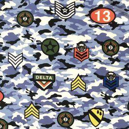 Teplákovina Camouflage stickers blue