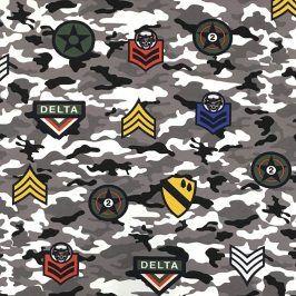 Teplákovina Camouflage stickers grey