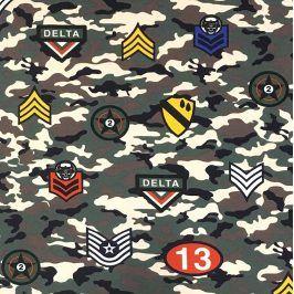 Teplákovina Camouflage stickers khaki