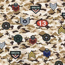 Teplákovina Camouflage stickers beige
