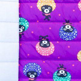 Prešívaná látka Afro bear purple