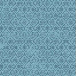 BIRDS OF A FEATHER Damask blue