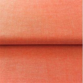 Yarn dyed poplin cotton orange