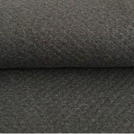 Teplákovina prešívaná dark grey melange