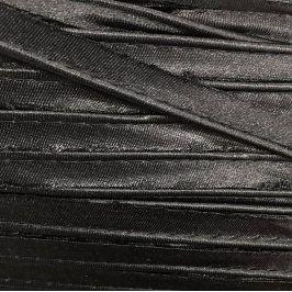 Paspulka saténová 10 mm čierna