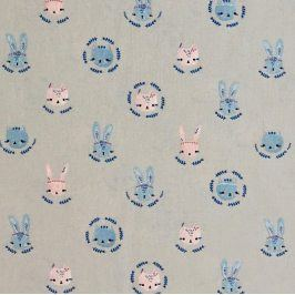 Cats and bunnies love story grey