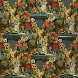 Úplet Teddy Teodor grey digital print border