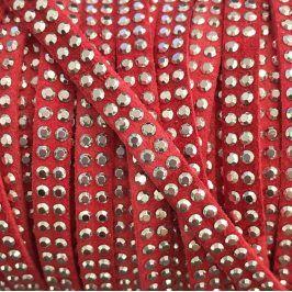 Semišová šnúra kamienky coral
