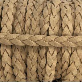 Semišová šnúra pletená taupe