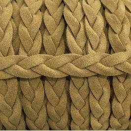 Semišová šnúra pletená sand