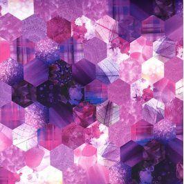 Dekoračná látka Hypnoze violet digital print