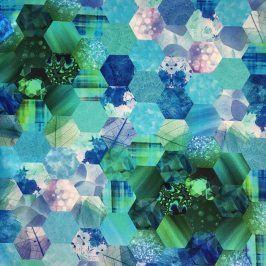 Dekoračná látka Hypnoze blue digital print