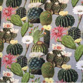 Dekoračná látka Cactus digital print