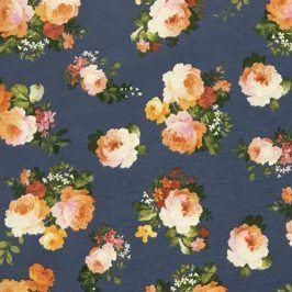 Dekoračná látka Bloom blue