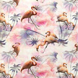 Úplet BIO Flamingo digital print