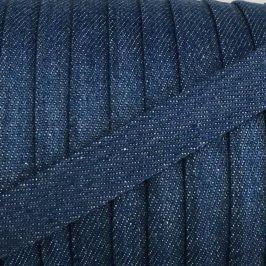 Bavlnená šnúra plochá 15 mm Denim blue