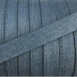 Bavlnená šnúra plochá 15 mm Denim baby blue