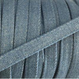 Bavlnená šnúra plochá 10 mm Denim baby blue