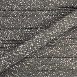 Bavlnená šnúra plochá 20 mm Melir grey