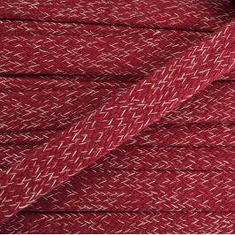 Bavlnená šnúra plochá 20 mm Melir red