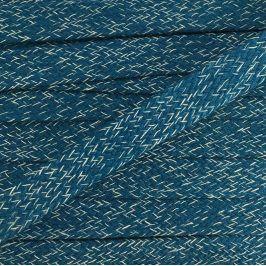 Bavlnená šnúra plochá 20 mm Melir petrol