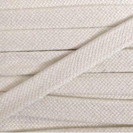 Bavlnená šnúra plochá 20 mm cream