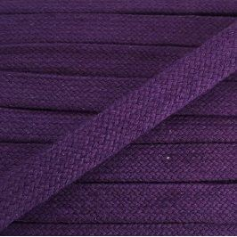Bavlnená šnúra plochá 20 mm purple