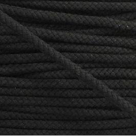 Bavlnená šnúra 8 mm black