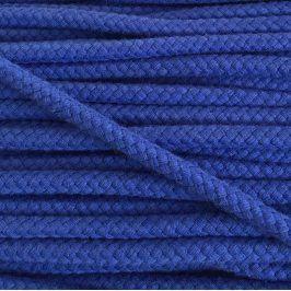 Bavlnená šnúra 8 mm kobalt