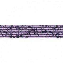 Guma hladká 4 cm Skull purple