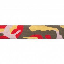 Guma hladká 4 cm Army red