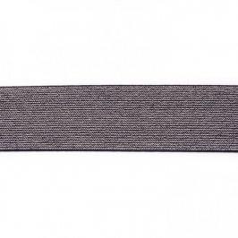 Guma hladká 5 cm glitter black