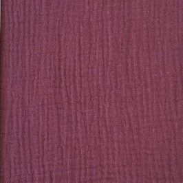 Double gauze/muslin purple