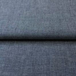 Yarn dyed poplin cotton navy