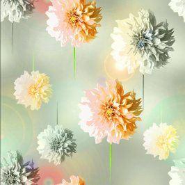 Úplet BIO Flowers Izabella digital print